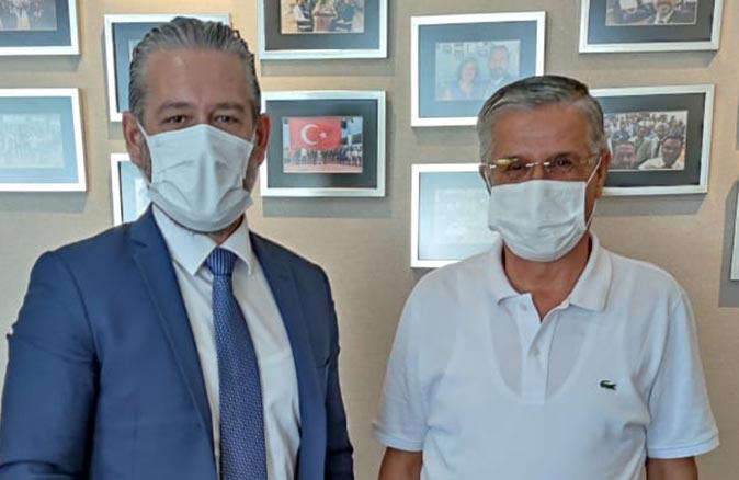 Başkan Necati Topaloğlu Müdür Deniz Varol'u ziyaret etti.
