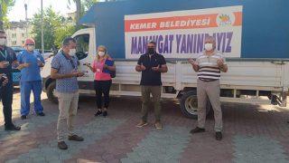 Kemer Belediyesi'nden Manavgat'a yardım kolileri