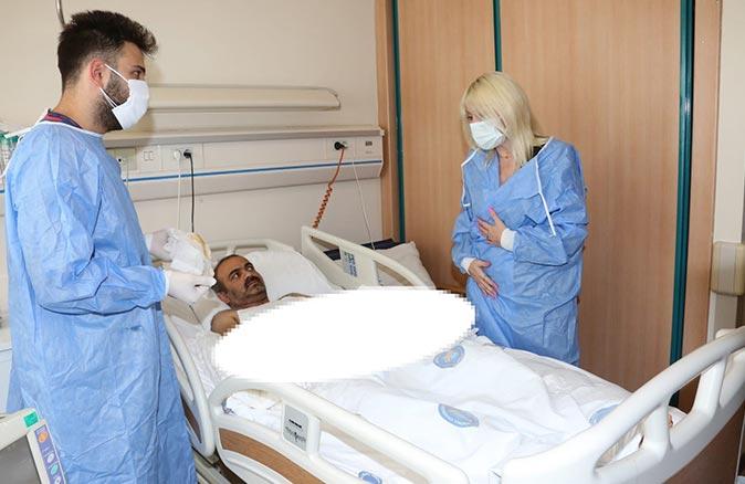 Akdeniz Üniversitesi'nde kol nakli olan Yavuz Ayılmazdır'dan ilk görüntü