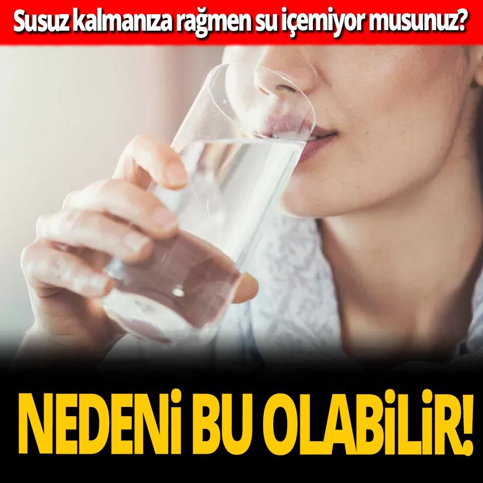 Susuz kalmanıza rağmen su içemiyor musunuz? Nedeni bu olabilir!