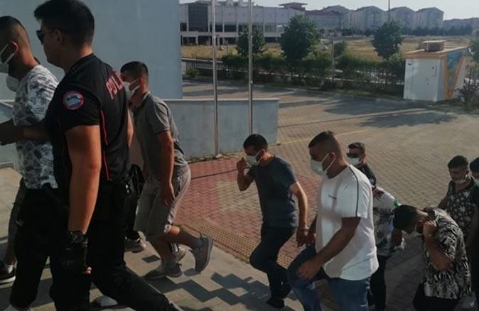 Edirne'de operasyon! 12 kişi gözaltına alındı