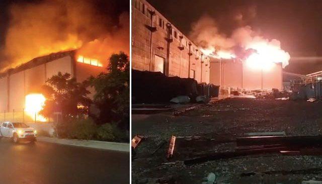 Antalya'da plastik fabrikasında yangın