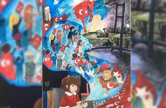 Alanyalı 6. sınıf öğrencisi Hasibe Esma Güneş eseri ile Türkiye üçüncüsü oldu