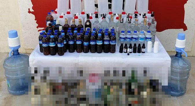 Antalya'da kaçak içki operasyonu!  118 litre ele geçirildi