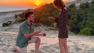 Evlilik teklifini olay yerinden geçen tanıdıklar bozdu