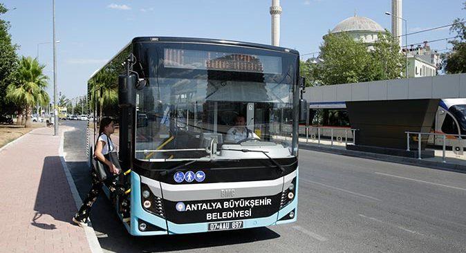 Antalya'da bayramda toplu taşıma ücretsiz olacak