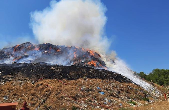 Manavgat çöp tesisinde yangın!