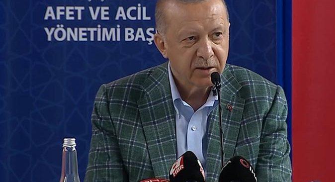 Cumhurbaşkanı Erdoğan afet bölgesinde yapılacak destekleri açıkladı