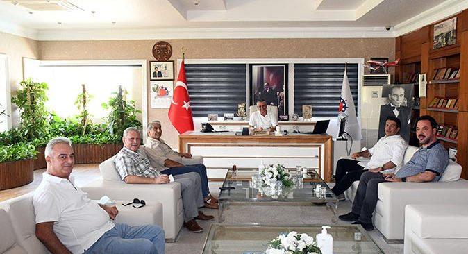 Başkan Turgay Genç, Başkan Necati Topaloğlu'nu ziyaret etti
