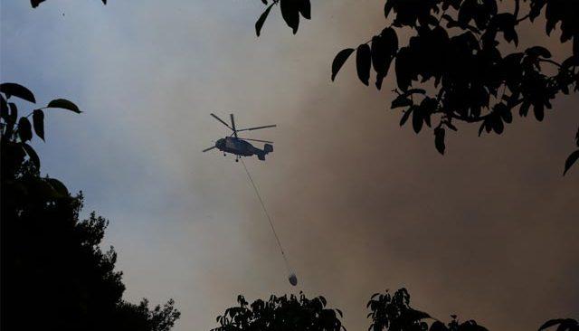 Gündoğmuş'taki orman yangınına havadan ve karadan müdahale sürüyor