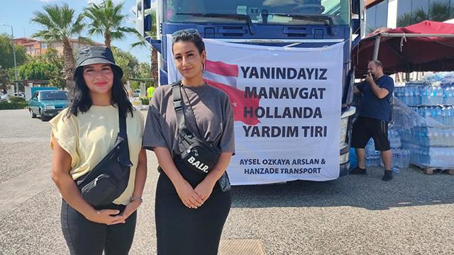 Hollanda'dan Manavgat'a Türk eli uzandı