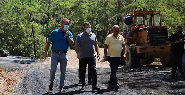 Alanya Belediyesi'nden doğu bölgesinde asfalt çalışması