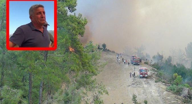 Düzağaç Mahallesi'ndeki yangın muhtarı gözyaşlarına boğdu