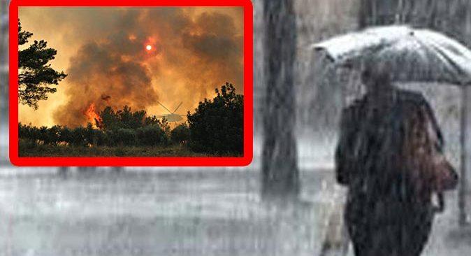Yangın felaketi ile mücadele eden Antalya'ya yağmur müjdesi
