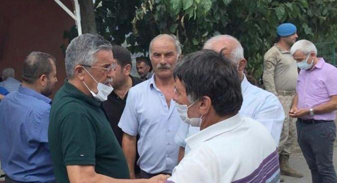 Başkan Necati Topaloğlu yangın bölgesinde