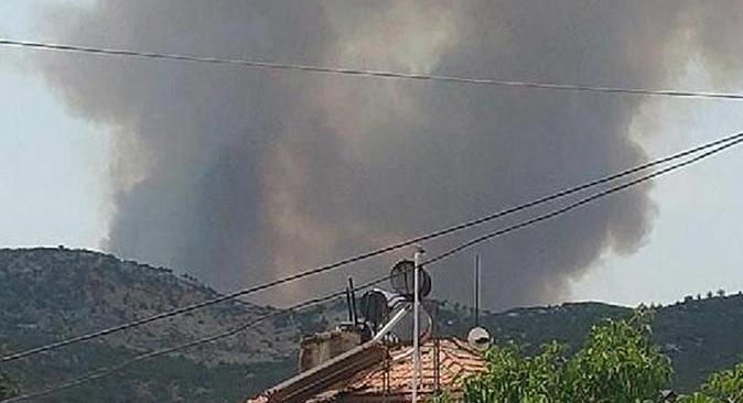 Son dakika.... Burdur'un Tefenni ilçesinde orman yangını