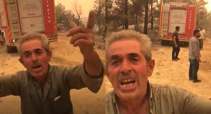Mahallesi yanmaktan kurtarılan vatandaşın yaptığı açıklamalar gündem oldu