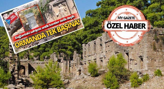 Antalya'daki yangın antik kentleri de tehdit ediyor