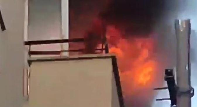 Antalya'da apartman dairesinde yangın çıktı