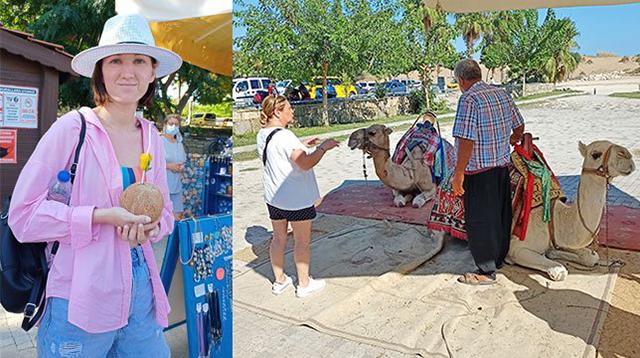 Arap turistler devecilerin yüzünü güldürdü