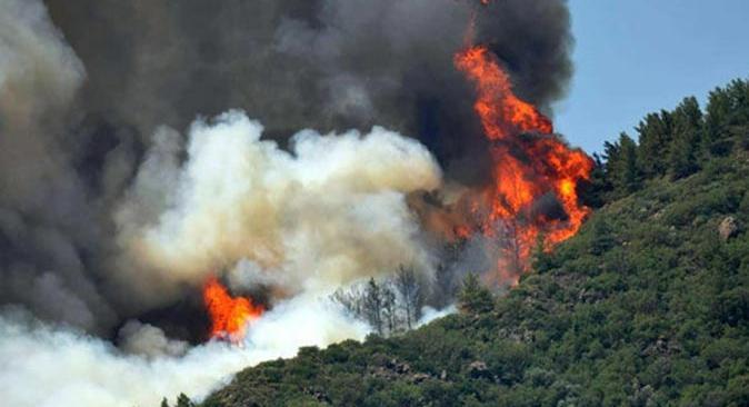 Bakan Ersoy duyurdu! Marmaris'teki yangın kontrol altına alındı