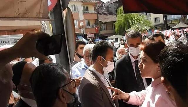 Akşener'den tepki gösteren vatandaşa: Haram olsun hepinize