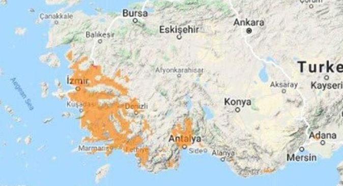 Ege ve Antalya için orman yangını uyarısı!