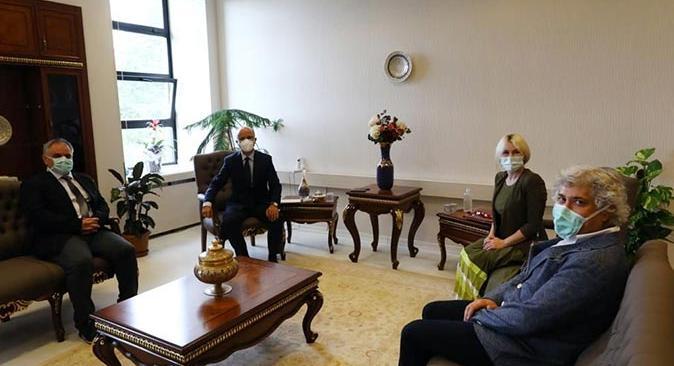 Rektör Özlenen Özkan, YÖK Başkanı Erol Özvar'ı ziyaret etti