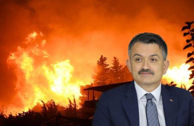 Bakan Pakdemirli: Mersin Silifke ve Antalya Gazipaşa'daki yangınlar kontrol altına alındı
