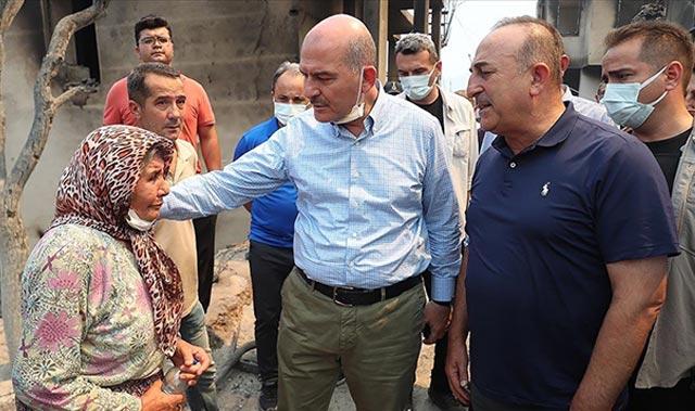 Bakanlar Soylu ve Çavuşoğlu, incelemelerde bulundu