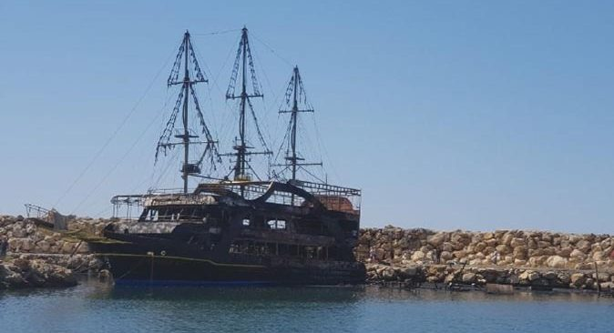 Alanya'da yanarak küle dönen teknelerde meydana gelen zarar ortaya çıktı