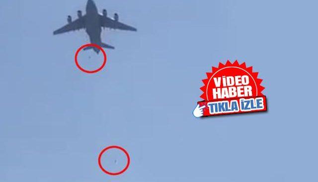 Kabil Havaalanı'nda korkunç görüntü! Uçağın tekerleğinden insanlar düştü