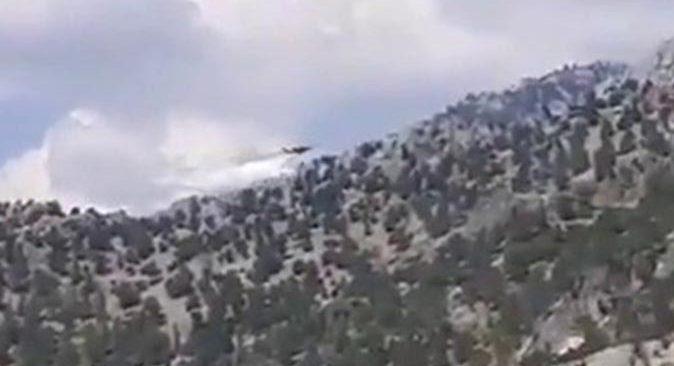 Kahramanmaraş'ta uçak düştü! İşte ilk fotoğraflar