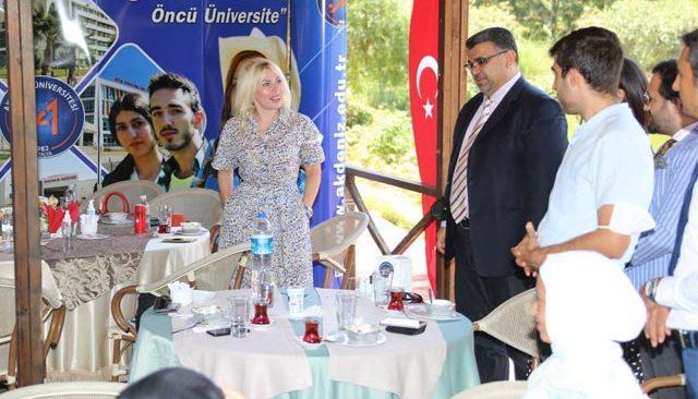20 ülkeden 58 öğrenci üniversiteyi ziyaret etti