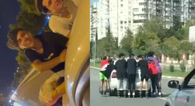 Antalya'da  7 genç yürekleri ağza getirdi