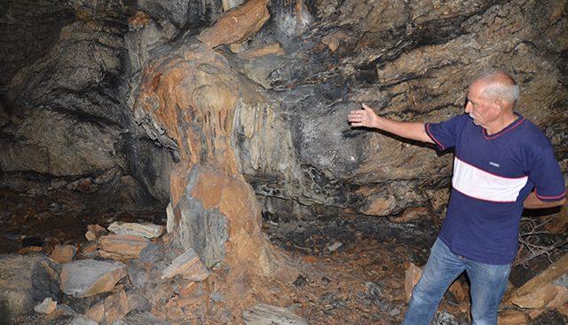 Kartallı Mağarası definecilerin hedefi oldu