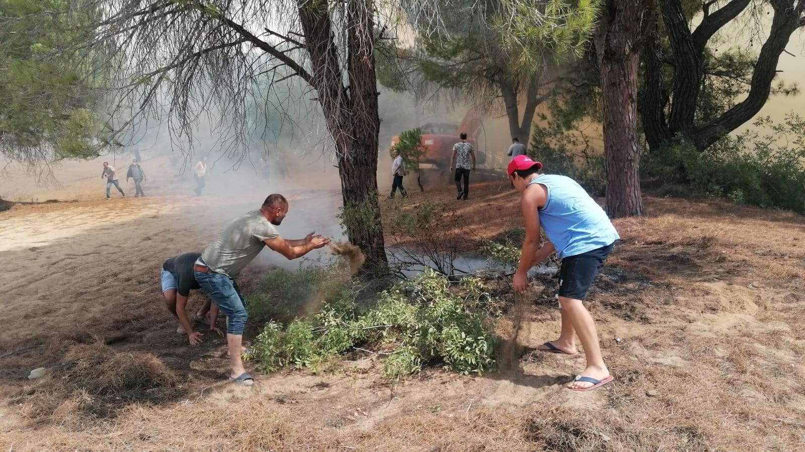 Manavgat Sorgun Çamlığı'nda orman yangını