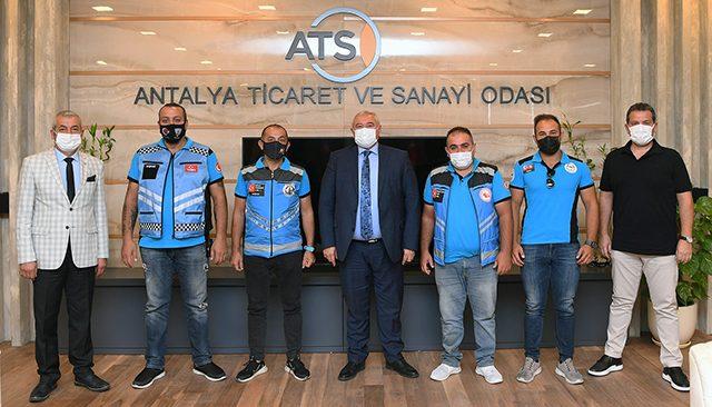 ATSO moto-kuryeler ile sektör temsilcileri arasında köprü olacak