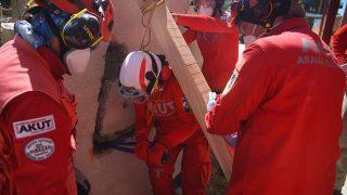 AKUT, Türkiye genelindeki deprem tatbikatlarını Alanya'da yapıyor