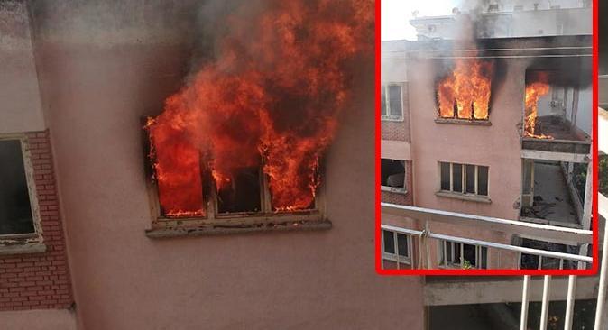 Antalya'da bimekan rezidans alev alev yandı