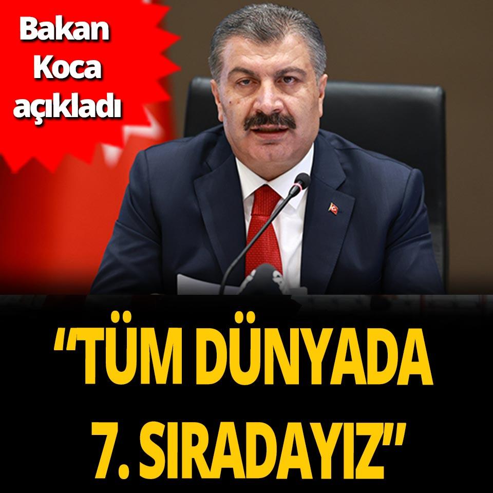 Bakan Fahrettin Koca açıkladı! Türkiye doz sayısında dünyada 7'inci