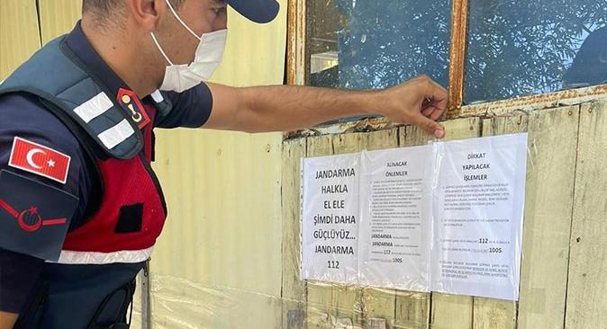 Kumluca'da Jandarma hırsızlara karşı vatandaşları uyardı