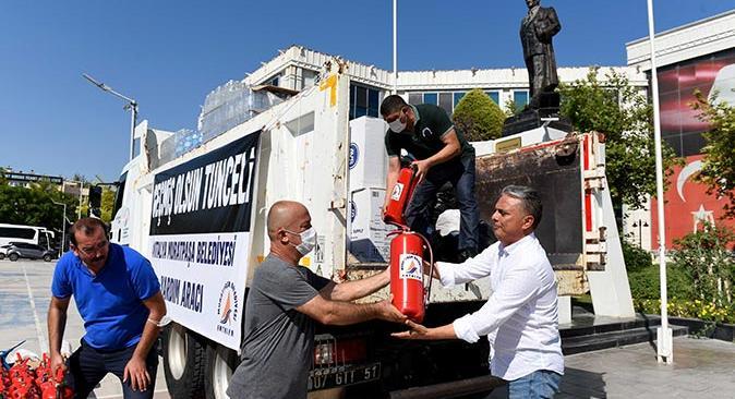 Muratpaşa'dan Tunceli'de yangınla mücadeleye destek