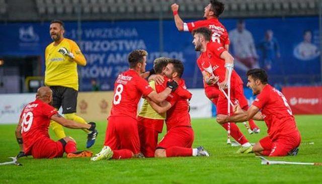 2021 Avrupa Şampiyonası finalinde İspanya'yı devirdi! Ampute Futbol Milli Takımı şampiyon oldu