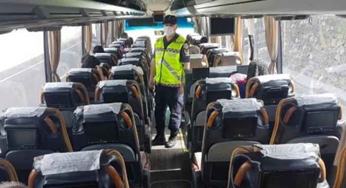 Gazipaşa'da yolcu otobüsünde esrar ele geçirildi