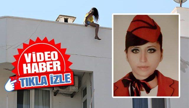İntihar için değil eylem için çatıya çıktı! İşsiz hostes: Çamaşırımı giymeme bile izin vermediler