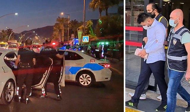 Antalya'da trafik magandası tutuklandı