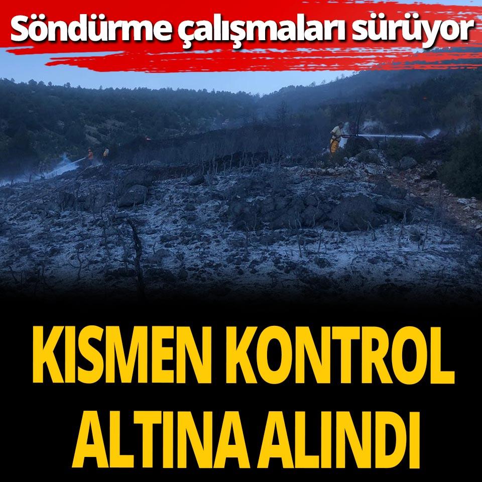 Burdur'daki orman yangını kısmen kontrol altına alındı