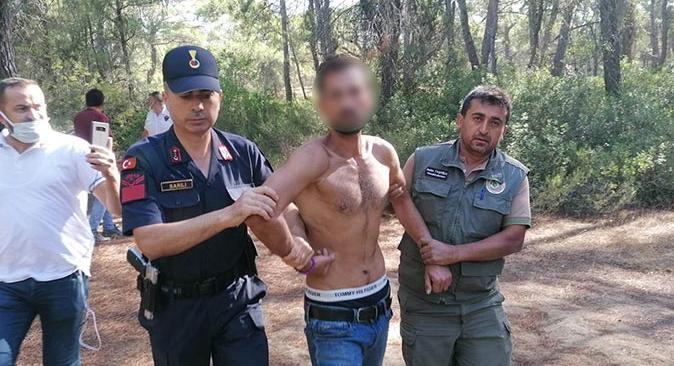 Son dakika.... Antalya'da ormanı yakarken suçüstü yakalandı