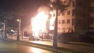 Zeytinköy'de korkutan yangın